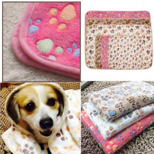 Dog Puppy Warmer Soft Blanket Fleece Towel Pet Cushion Mat Cat Kitten Paw New