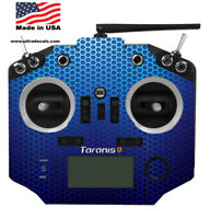 Taranis Q X7 X7S Radio Blue Honeycomb Skin Wrap Transmitter QX7 Ultradecals