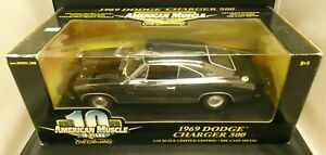 American Muscle ERTL 1969 Dodge Charger 500 Black 1/18 Limited Edition NOS
