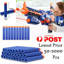 BULK 2000PCS Bullet Darts For NERF Kids Toy Gun N-Strike Round Head Blasters AY