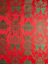 China Brokat Doppelglück rot / grün