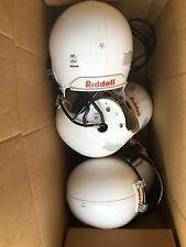 Lot of 11 Schutt & Riddell Air  Junior White Football Helmet Sm Med Large