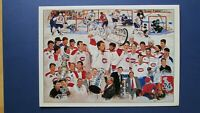 PATRICK ROY MONTREAL CANADIENS 1993 Stanley CUP CHRISTMAS Signed by SERGE SAVARD