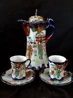 Antique Nippon hand painted porcelain tea set Japan