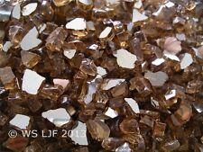 "10 LBS 1/4"" Copper Reflective Fireglass Fireplace Glass Rocks Fire Pit Crystals"