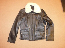 A.N.A. Aviator L Black Leather Lambskin Jacket Coat $300