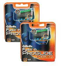12x Gillette Fusion ProGlide Power Klingen / 12er razor blades Gilete Gilette