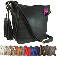 Large Handbag Slouch Bag Long Shoulder Strap Big Across Cross Body Tassel Ladies