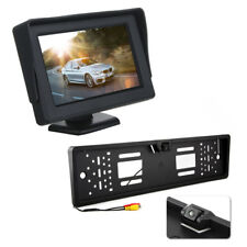 "4.3"" Inch 12v In Car Dash Monitor Screen w/ Car Numberplate Parking Camera Kit"