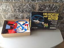 Vintage 80S# Gama Germany Helicopter Helikopter Mit With Motor Nib