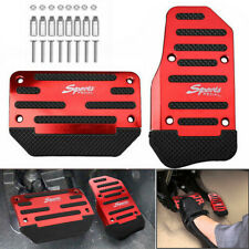 Car Red Non-Slip Automatic Gas Brake Foot Pedal Pad Cover Accessories Universal