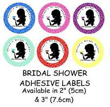 Personalised HENS NIGHT/ BRIDAL SHOWER Self Adhesive Glossy Label/Stickers