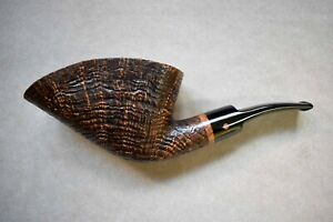 Moretti Pipe Super Magnum Golden Contrast Sandblasted Freehand