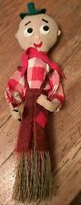old handmade straw broom male cowboy character figure doll Western Dude Ranch