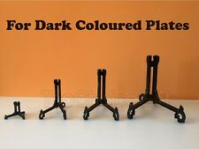 Black Plastic Easel Plate Disk Dish Bowl Stand Holder Mount With Extra Stability