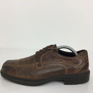 Ecco  Brown Leather Lace Up Comfort Dress Up Shoe Men Size UK 7 Eur 41
