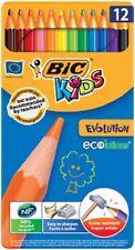 BIC crayons de couleur KIDS ECOlutions Evolution, 12 crayons dans boite métal