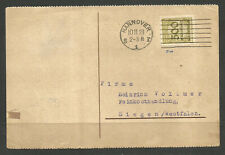 GERMANY. 1923. CARD. 500 MILLION SINGLE FRANKING PERFIN. HANNOVER. H W APPEL – D