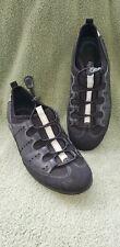 Ecco Women's Workout Comfort Shoe Size 8.5M Black with Silver Elastic Lacing 39E