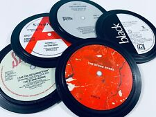 More details for stone roses. 5 vinyl coasters in a tin. sally cinnamon, fools gold, waterfall