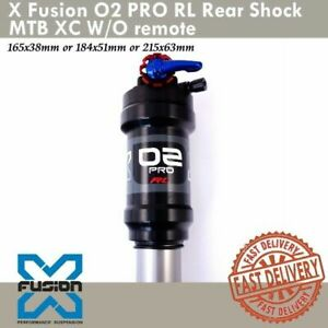 X-Fusion O2 PRO RL Rear Shock 165x38mm/184x51mm/215x63mm MTB XC W/O remote