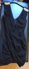 Black size 8 River island dress