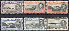More details for 1938 ascention sg 38/44 (p 13½) short set of 6 values mounted mint
