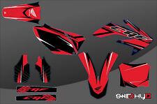 KIT ADESIVI GRAFICHE RACE ONE RED HONDA CRF 250 2004 2005