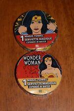 Lot of (3) Wonder Woman Magic Towels Washcloth DC Super Hero Kids Bathroom