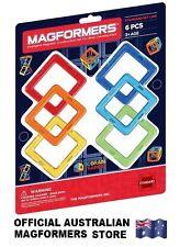 Genuine MAGFORMERS Squares 6 pcs Set - 3D Magnetic building construction sets