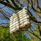 Alpaca+Bird+Nesting+Material+in+Square+Hanging+Holder+100%25+Natural+Alpaca+Wool
