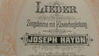 Lieder für eine Singsstimme mit Klavierbegleitung von Joseph Haydn H8457