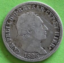 ITALIE CHARLES FELIX 1 LIRA 1826