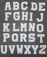 Letters of the Alphabet Iron On Patches sew on Transfers A-Z small WHITE letters