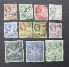 BARBADOS 1912 0.25d to 3s SG 170 - 180 Sc 116 - 126 set 11 used