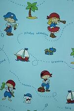 Vlies Tapete Piraten Kinder Zimmer Schiff Insel Schatzkiste blau Kinderzimmer
