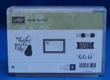 Stampin up Quite The Pair STAMPS Date XOXO Sweet Bliss Unmounted Retired