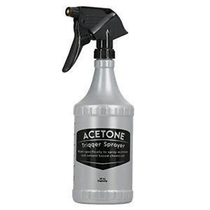 Delta 32oz/1000ml Acetone Resistant Trigger Sprayer and Bottle FG32ACETONE1-12