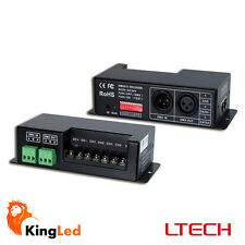 Decoder DMX512 RGB+W Controller Dimmer LED 24A DC5-24V DMX-512 LT-840-6A 2054