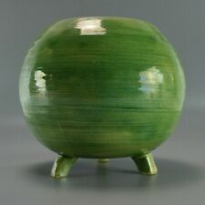 Carl-Harry Stalhane Apple Green Rose Bowl Small Vase Ceramic Mid-Century Modern