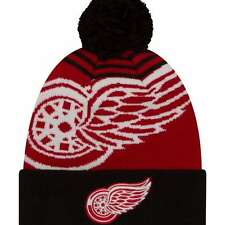 Detriot Red wings New Era Logo Whiz 2 Cuffed Knit Hat with Pom