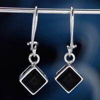 Onyx Silber 925 Ohrringe Damen Schmuck Sterlingsilber H569