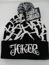 Suicide Squad Movie The Joker Allover Pom Cuff Knit Beanie Hat Nwt