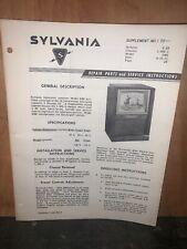 Sylvania Model 24M Service Data,parts List,schematics.
