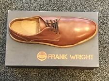 FRANK WRIGHT 'Bognor' Shoes. 9/43 Cherry tan. Brand New . Thick Leather Sole.
