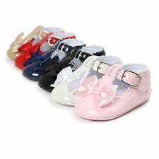 Zapatos Comodos Zapatitos De Bebe Baby Niña Recien Nacido De Piel Con Moño