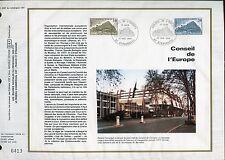 DOCUMENT CEF PREMIER JOUR  1980  TIMBRE SERVICE  N° 63 - 64 CONSEIL DE L EUROPE