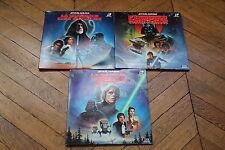 Lot 3 STAR WARS Trilogie Rare CAV VF THX  laserdiscs George Lucas SDS