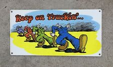 R. Robert Crumb Keep on Truckin' Mr. Natural Comics Vintage Poster Metal Sign
