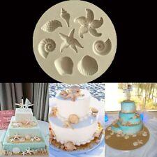 Stampo in silicone fondente con conchiglie Decorazione per torte al cioccolato